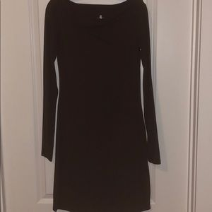 James Perse Boat-neck Long Sleeve Cotton Dress